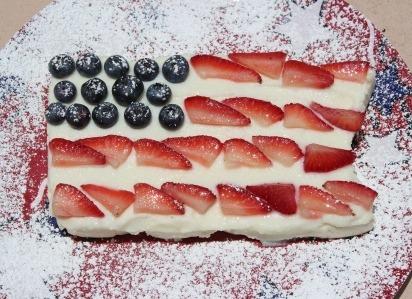 healthy flag cake