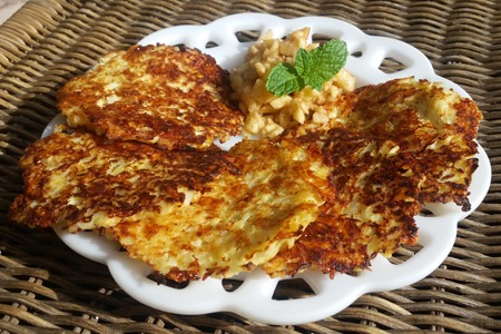 faux potato pancakes latkes for CardioMender MD Weight Loss diet plans